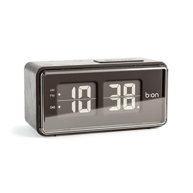 alarm clock med fliptal i retrostil med snooze og lys i display. Black Bedroom Furniture Sets. Home Design Ideas
